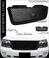 For 2006-2009 Chevy Trailblazer Lt Blk Luxury Mesh Front Bumper Grill Grille Abs on sale