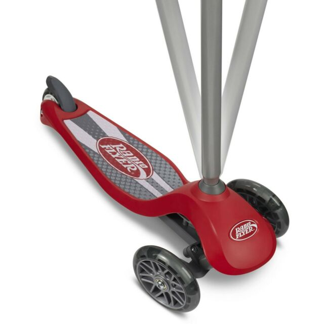 Radio Flyer Lean /'n Glide Scooter With Light up Wheels Vehicle 549X Red for sale online