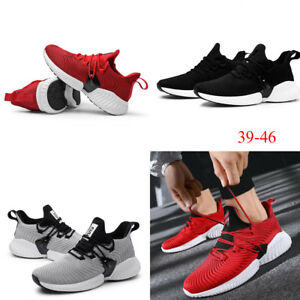 Mens Athletic Running Tennis Shoes Light Weight Walking Gym Training