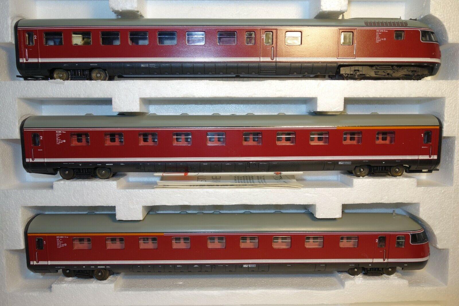 LIMA 149808 DB TRIEBZUG DIESEL BR 613 3 pezzi con scatola originale