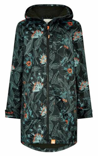 Weird Fish Womens Cosmo Waterproof Rain Coat Washed Black