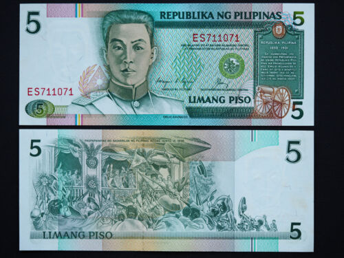 DATE 1995 FANTASTIC NOTE 5 PISO MINT UNC PHILIPPINES BANKNOTES