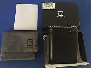 teemzone-Men-Soft-Leather-Black-Casual-Clutch-Wallet-Checkbook-Organizer-NWT