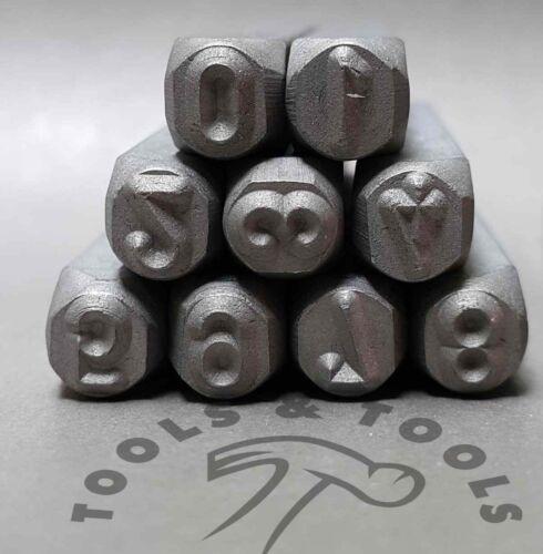 4 mm Schmuck Herstellung Alphanumerische Metall Schlagstempel Buchstaben A-Z /&