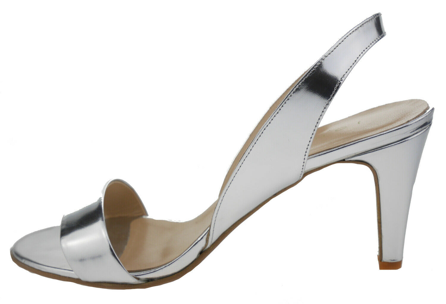Jonak Ditame Leather High-Heeled Sandals Silver 185841