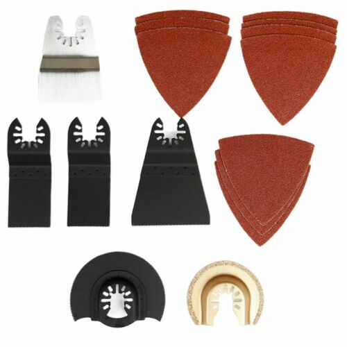 16Pcs Oscillating Multi Tool Accessories Saw Blades for Sanding Grinding Cutting