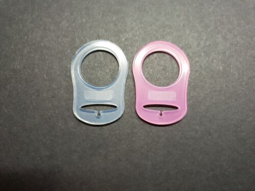 2 X MAM Baby Style Dummy Adaptors Ring Clip Pacifier Soother Two Pack