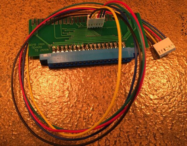 Tehkan Bomb Jack PCB to JAMMA adapter arcade