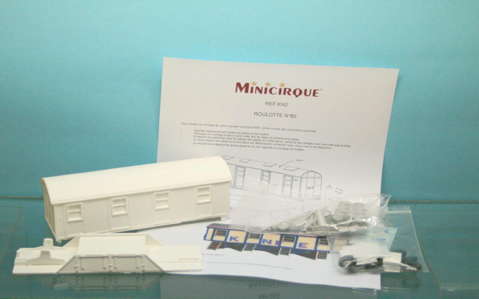 MINICIRQUE - CIRQUE KNIE -  KIT A CONSTRUIRE ROULOTTE N°80 - REF  KN2 - 1 50