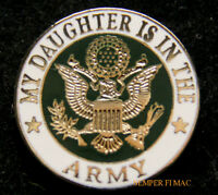 US ARMY DAUGHTER HAT LAPEL PIN UP USA VETERAN VET MOM DAD SON EAGLE GIFT WOW