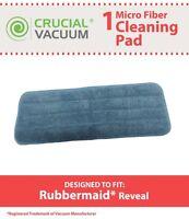 Rubbermaid 1M19 Reveal Wet Mop Microfiber Washable & Reusable Mop Pad NEW