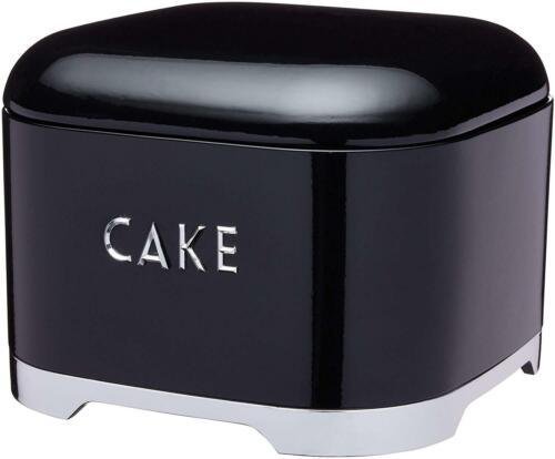 Midnight Black 26 x 20 cm Kitchen Craft Lovello Cake Storage Tin