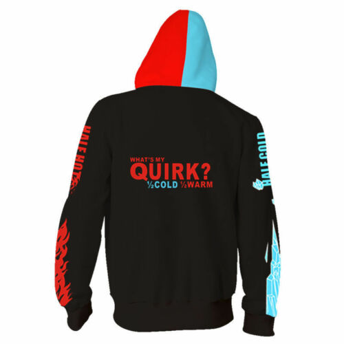 Anime My Hero Academia Hoodie Todoroki Shoto Sweatshirts Cosplay Jacket Coat New