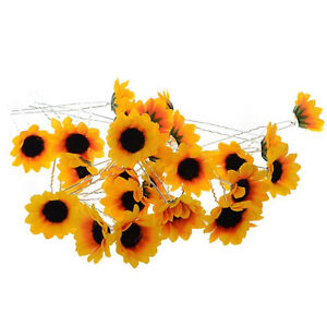5Pcs-Wedding-Bridal-Party-Yellow-Sunflower-Prom-Hair-Pins-Clips-Headpiece-Decor