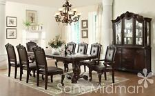 Kira 8 Pc Formal Dining Set Table W 2 Leaves 6 Chairs And Buffet Hutch NEW