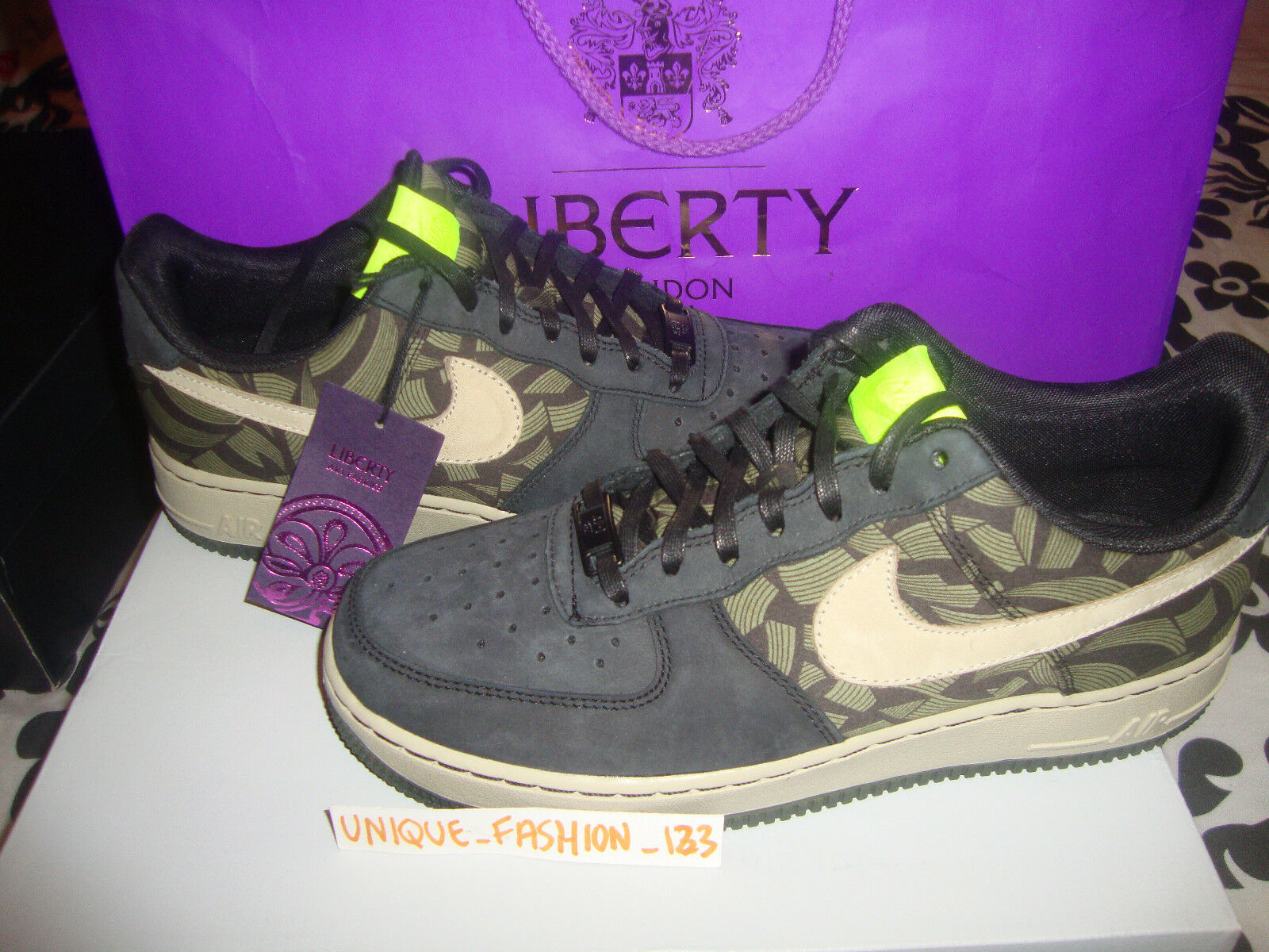 Nike Liberty of Force London Air Force of 1 Low6 US 8.5 gris US 7 gris EU 40 Lotus Jazz 1f1977