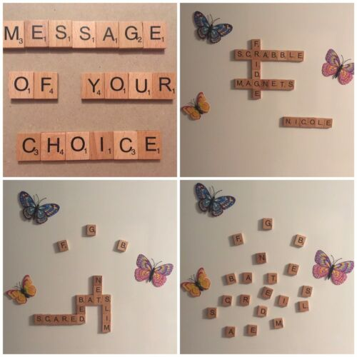 Alphabet A to Z £4.99 With Free P/&P Wooden Scrabble Tile Letters Fridge Magnets