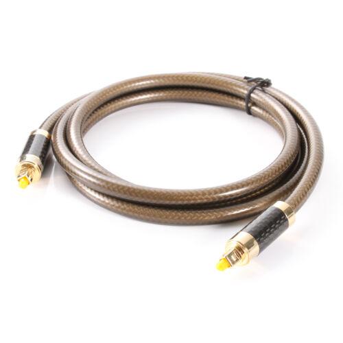 Premium OD8.0 Digital Optical Audio Cable Fiber Optic Toslink SPDIF Long Cord