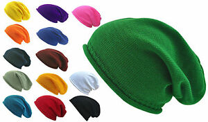306a213e359 Image is loading 100-Cotton-Plain-Summer-Slouchy-Beanie-Light-Weight-