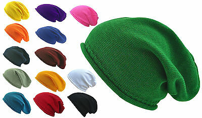 100% Cotton Lightweight Casual Slouchy/Slouchie Beanie Hat, Festival, Party,