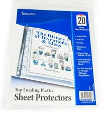 40 Sheet Protectors Clear Top Load 85 X 11 Document Holder 11 Hole New Quality