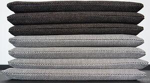 bankauflage outdoor grau 40 200 cm stoff bankpolster. Black Bedroom Furniture Sets. Home Design Ideas