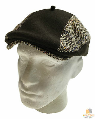 LAULHERE Harry French Tweed Flat Cap 100% Merino Wool MADE IN FRANCE New