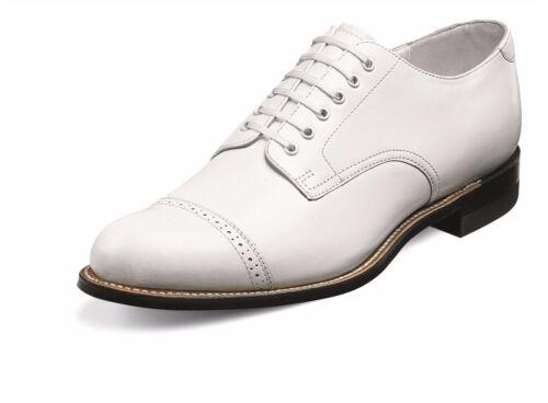 Stacy Adams Mens White Madison Cap Toe Dress Formal Oxford Trending Work Shoe