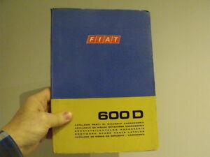 Fiat 600 Car Body Parts Manual Vintage Microcar Ebay