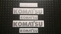 KOMATSU STICKERS DECALS FORKLIFT MINI DIGGER EXCAVATOR