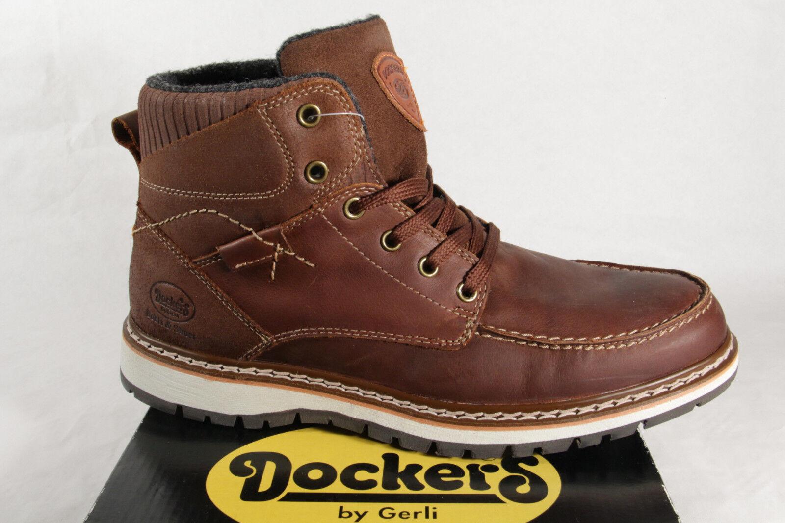 Dockers stiefel schnürstiefel Stiefel winterstiefel Braun Leder neu