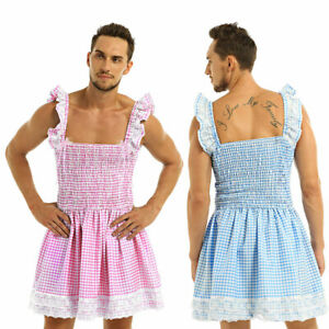 Sissy Gingham Trimmed Lace Bow Dress