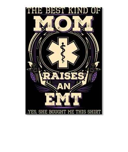 Portrait Sticker Printed Proud Emts Mom The Best Kind Of Raises An Emt ...yes