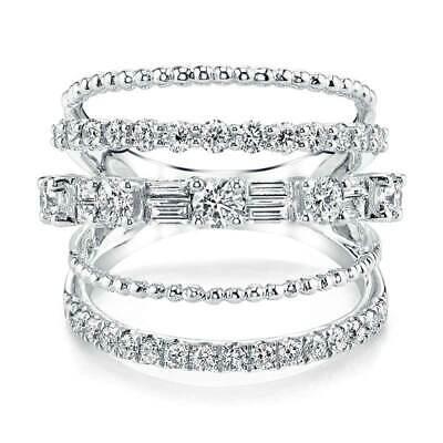 Luxury Gold Silver Filled Wedding Rings For Women W B3K6 Sapphire Size 6-10 W3W7