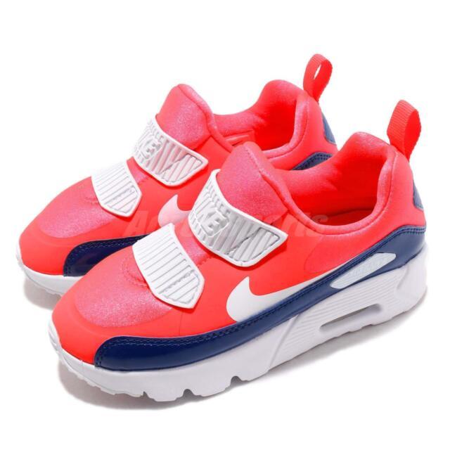 Nike Air Max Tiny 90 PS Bright Crimson Kid Preschool Slip On Shoes 881927 604