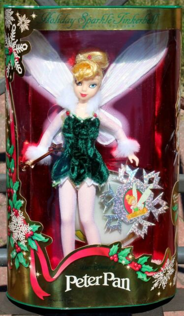 1999 HOLIDAY SPARKLE TINKERBELL BARBIE DOLL DISNEY'S PETER PAN #25566 NRFB