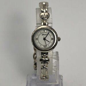 Brighton Womens Stainless Steel Pompeii Round White Dial Analog Wristwatch