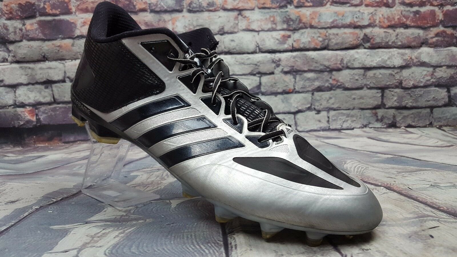Men's Adidas Quick Frame black /gray football cleats shoes Crazy quick Price reduction best-selling model of the brand