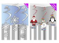 Christmas Hanging Swirl Decorations Snowflake Santa Snowman