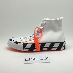 Details about Converse x Off White All Star 70s Hi Virgil Abloh SIZES UK6 163862C