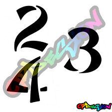 Numeri Adesivi auto/moto racing stickers numero adesivo Font 9