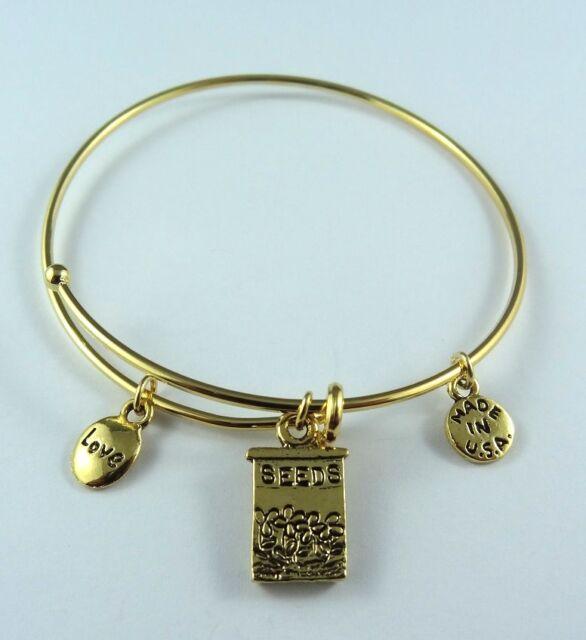 Love Seeds Gold Bangle Bracelet Made in USA