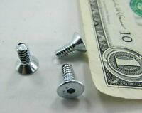 Lot 100 Flat Allen Head Screws, 6-32 X 11/32 Countersunk Zinc Plated Steel