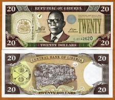 Liberia / Africa, 20 dollars, 2011, P-28-New, UNC