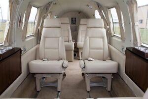 Beechcraft King Air 200 Custom Leather Interior Ebay