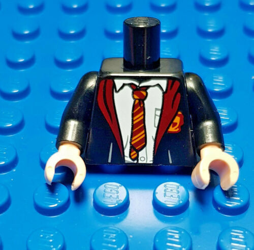 LEGO-MINIFIGURES X 1 BLACK TORSO WITH RED AND YELLOW TIE  PARTS