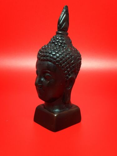 Buddha Head Thai Buddhist Handmade Thailand decoration Resin 3.5 Inches