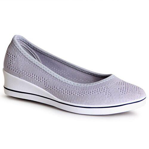 Damen Keilabsatz Ballerina Plateau Slipper Sneaker Pumps