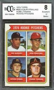 Albury-Frailing-Kobel-Frank-Tanana-Rookie-Card-1974-Topps-605-BGS-BCCG-8