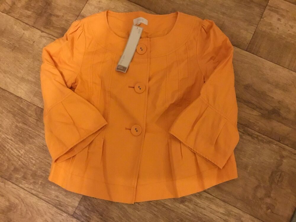 Ambitieux Marks And Spencer Orange Veste Taille 16 Neuf Toujours Acheter Bien